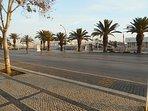 View from front door of apartment building.  Foot bridge going to Marina de Lagos.