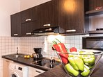 Fully-equipped open-space kitchen