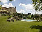 Large holiday and wedding villa near San Galgano Abbey, Siena, Tuscany.