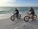 Bike and other rentals available across the street on the beach