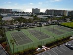 4 tennis courts available and a beautiful view from the top floor!