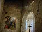 Interior of church San Donnino. Painting by Francesco Granacci, apprentice with Michelangelo