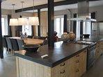 The kitchen with a Boretti stove