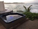 Relax in our hot tub to the sounds of the Pacific just off the edge.