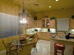 Deluxe Kitchen with Breakfast Table and  Bar