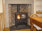 The kitchen wood burner