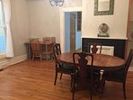 Dining Room w/ work desk. Additional chairs available