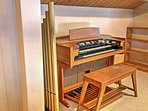 A classic organ adds an eclectic taste.