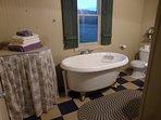 A good soak in the soaking tub will help you sleep like a baby