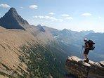 Looking south toward Dawson Pass - Glacier National Park