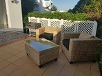 Large terrace for outdoor dining, BBQ and sunbathing