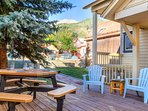 The comfortable weather of Telluride summer is perfect for an outside meal or glass of wine.
