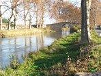 Le canal du midi à Cers