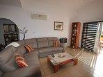 comfy leather corner suite