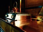 Copper worktops and a two ring cooker for your morning tea