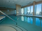 Enjoy the views from our indoor pool - heated year round.