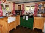 Farmhouse kitchen with electric Aga