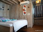 King bed cabin room