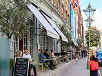 LOTS OF TRENDY CAFES AND RESTAURANTS CLOSEBY