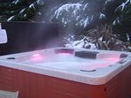 Enjoy the luxury of the hot tub under the stars