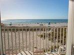 Two Private Beachfront Balconies Overlooking Treasure Island Beach