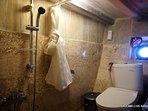 Private bathroom in each cabin