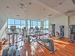 Enjoy morning workouts in the community gym.