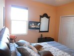 guestroom with a 26' flat-TV