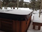 Hot tub is even better in the cold months!