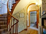 Stairs and hall to bedrooms