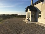 The house, sea views from upstairs of the aran islands & the cliffs of moher on a clear day