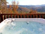 BARN QUILT CABIN -  Mtn & River Views W/Hot Tub, WiFi, Foosball & Pets Ok!