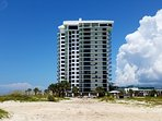 2 bedroom 2 bath with wrap around balcony provides a great view of the beach.