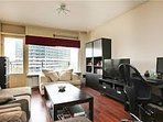 living roon free smart tv of 150 cm with all chanels of the world wifi free balcony for smoking