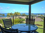 Relax and enjoy beautiful views of the ocean and landscaping from the lanai.