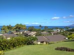 Panoramic ocean views from Living/Dining Room, Kitchen, Bedroom, and large Lanai.