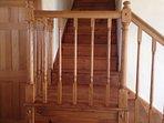 Custom oak staorcase