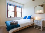 1st floor Blue bedroom with double bed