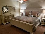 Master bedroom with king size bed.. new Sealy mattress