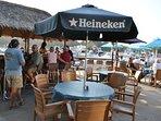 Tiki bar and restaurant 200' away
