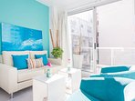 Buenos Aires - Light Blue Terrace - Living Rom