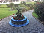 Garden fountain off front entrance.  35 lot gated community in rear