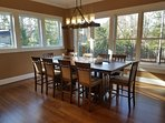 Gather around the lovely dining table to enjoy your homecooked meals.