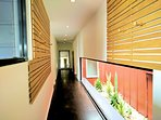 Long sweeping corridors with ducted heating and cooling throughout the house