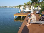 Catch trout, redfish, drum, flounder and sheepshead right off the dock
