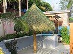 Splash pool and palapa
