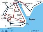 Bus routes around Lagos provided by ONDA.