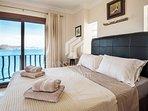 Master bedroom suite has full sea views and en-suite shower room