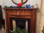 Original, character fireplace fireplace.