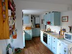 Large well equipped kitchen.